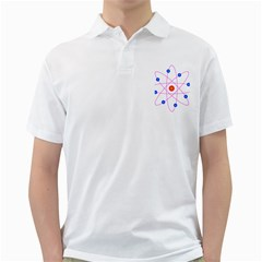 Atom Model Vector Clipart Golf Shirts