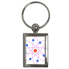 Atom Model Vector Clipart Key Chains (Rectangle)