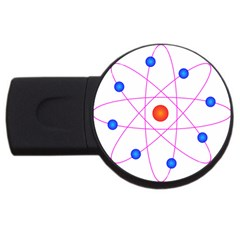 Atom Model Vector Clipart USB Flash Drive Round (1 GB)