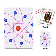 Atom Model Vector Clipart Playing Card