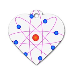 Atom Model Vector Clipart Dog Tag Heart (One Side)