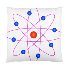 Atom Model Vector Clipart Standard Cushion Case (Two Sides)