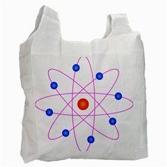 Atom Model Vector Clipart Recycle Bag (One Side)