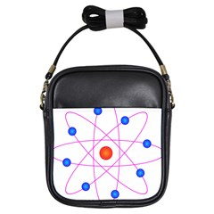 Atom Model Vector Clipart Girls Sling Bags