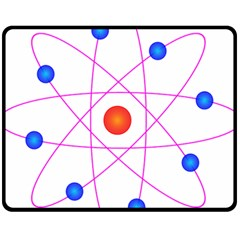 Atom Model Vector Clipart Fleece Blanket (Medium)