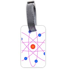 Atom Model Vector Clipart Luggage Tags (Two Sides)