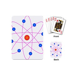 Atom Model Vector Clipart Playing Cards (Mini)