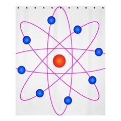 Atom Model Vector Clipart Shower Curtain 60  x 72  (Medium)