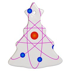 Atom Model Vector Clipart Christmas Tree Ornament (Two Sides)