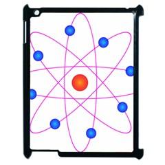 Atom Model Vector Clipart Apple iPad 2 Case (Black)