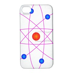 Atom Model Vector Clipart Apple iPhone 4/4S Hardshell Case with Stand