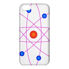 Atom Model Vector Clipart Apple iPhone 5C Hardshell Case