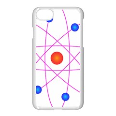 Atom Model Vector Clipart Apple Iphone 7 Seamless Case (white)