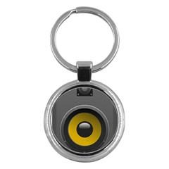 Audio Loadspeaker Activ Key Chains (Round)