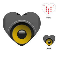 Audio Loadspeaker Activ Playing Cards (Heart)
