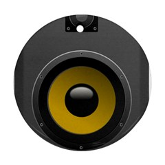Audio Loadspeaker Activ Round Ornament (Two Sides)