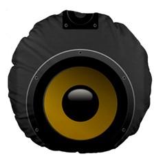 Audio Loadspeaker Activ Large 18  Premium Round Cushions