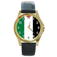 Palestine flag Round Gold Metal Watch