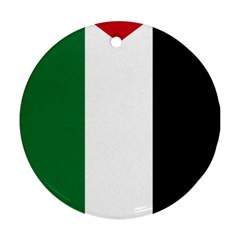 Palestine flag Round Ornament (Two Sides)