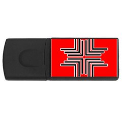 Backdrop Background Pattern USB Flash Drive Rectangular (4 GB)