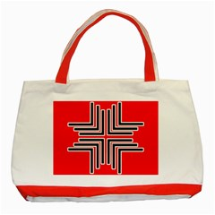Backdrop Background Pattern Classic Tote Bag (Red)
