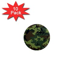 Camouflage Green Brown Black 1  Mini Magnet (10 pack)