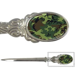 Camouflage Green Brown Black Letter Openers