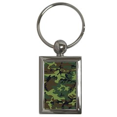 Camouflage Green Brown Black Key Chains (Rectangle)