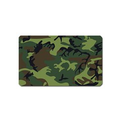 Camouflage Green Brown Black Magnet (Name Card)