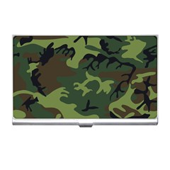 Camouflage Green Brown Black Business Card Holders