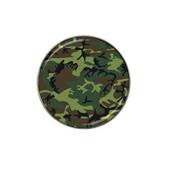 Camouflage Green Brown Black Hat Clip Ball Marker (4 pack)