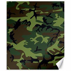 Camouflage Green Brown Black Canvas 8  x 10