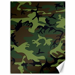 Camouflage Green Brown Black Canvas 36  x 48