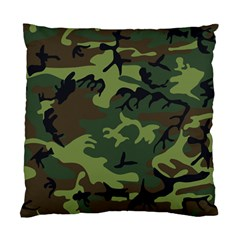 Camouflage Green Brown Black Standard Cushion Case (Two Sides)