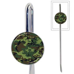 Camouflage Green Brown Black Book Mark