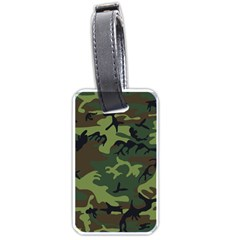 Camouflage Green Brown Black Luggage Tags (One Side)