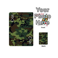 Camouflage Green Brown Black Playing Cards 54 (Mini)