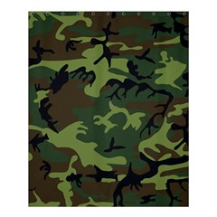 Camouflage Green Brown Black Shower Curtain 60  x 72  (Medium)