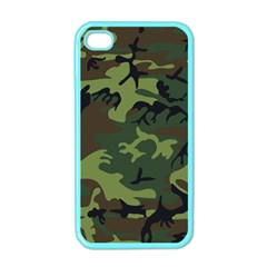 Camouflage Green Brown Black Apple iPhone 4 Case (Color)