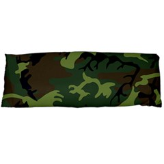Camouflage Green Brown Black Body Pillow Case (Dakimakura)