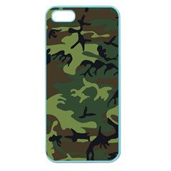 Camouflage Green Brown Black Apple Seamless iPhone 5 Case (Color)