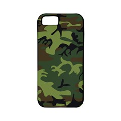 Camouflage Green Brown Black Apple iPhone 5 Classic Hardshell Case (PC+Silicone)