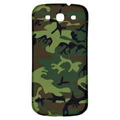 Camouflage Green Brown Black Samsung Galaxy S3 S III Classic Hardshell Back Case