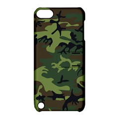Camouflage Green Brown Black Apple iPod Touch 5 Hardshell Case with Stand