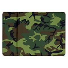 Camouflage Green Brown Black Samsung Galaxy Tab 8.9  P7300 Flip Case