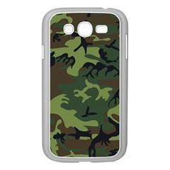 Camouflage Green Brown Black Samsung Galaxy Grand Duos I9082 Case (white)