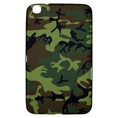 Camouflage Green Brown Black Samsung Galaxy Tab 3 (8 ) T3100 Hardshell Case