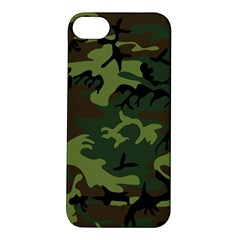 Camouflage Green Brown Black Apple iPhone 5S/ SE Hardshell Case