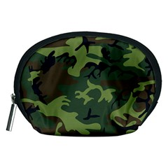 Camouflage Green Brown Black Accessory Pouches (Medium)