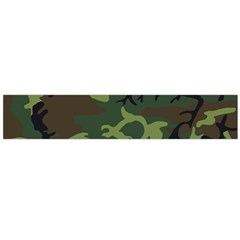 Camouflage Green Brown Black Flano Scarf (Large)